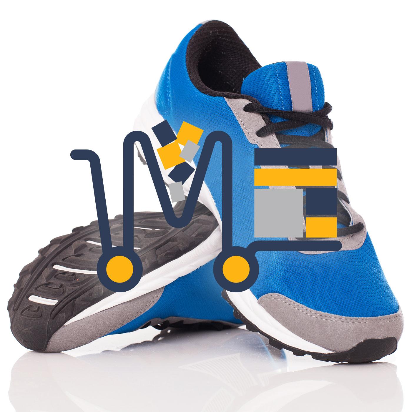 Pantofi sport din panza cu insertii de piele ecologica (d